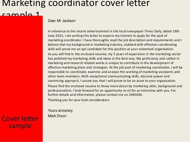 Beautiful Marketing Coordinator Cover Letter ... With Marketing Coordinator Cover Letter