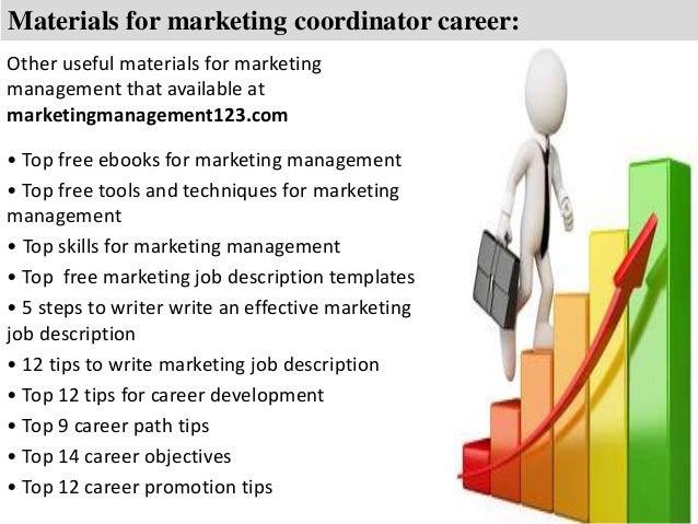 marketing coordinator job description template