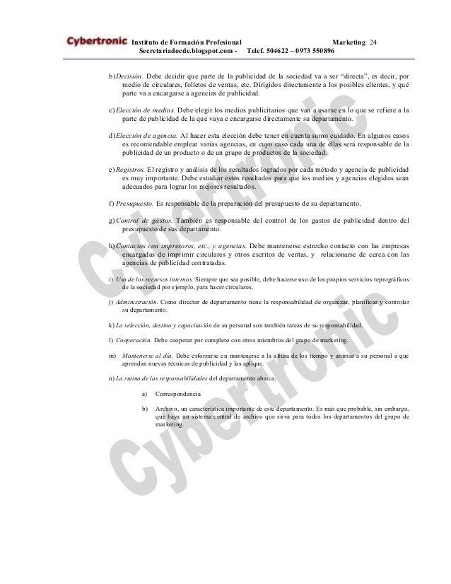 Curso de Secretariado Ejecutivo Cybertronic Instituto