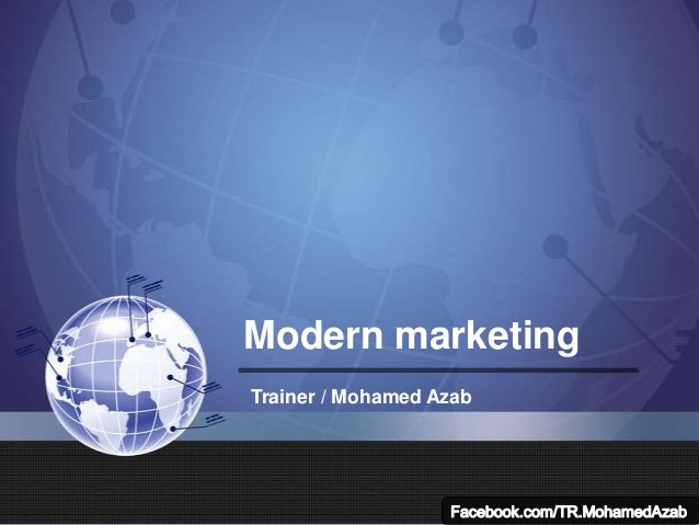 Modern marketing Trainer / Mohamed Azab
