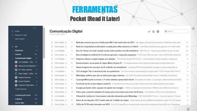 FERRAMENTAS Pocket (Read it Later)