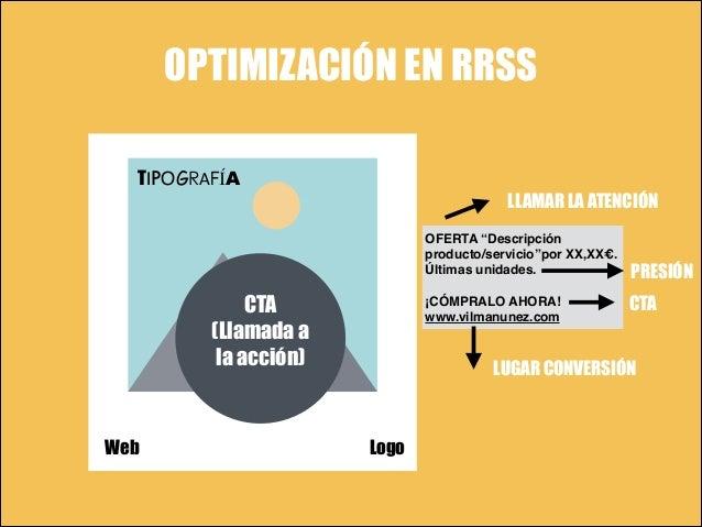 """OPTIMIZACIÓN EN RRSS TIPOGRAFÍA LLAMAR LA ATENCIÓN OFERTA """"Descripción producto/servicio""""por XX,XX€. """" Últimas unidades."""" ..."""