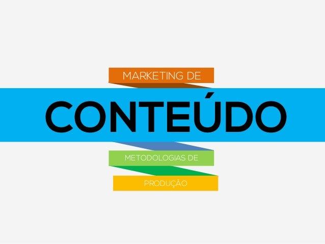 CONTEÚDO MARKETING DE METODOLOGIAS DE PRODUÇÃO