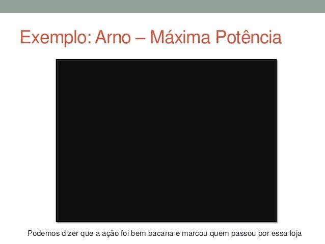 Exemplo: Arno – Máxima PotênciaPodemos dizer que a ação foi bem bacana e marcou quem passou por essa loja