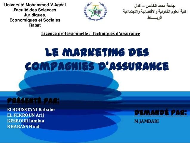 Université Mohammed V-Agdal    Faculté des Sciences          Juridiques,  Economiques et Sociales            Rabat        ...