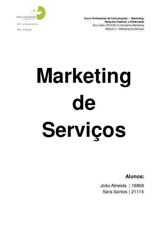 Curso Profissional de Comunicação – Marketing,                                         Relações Públicas e PublicidadeEB1 ...