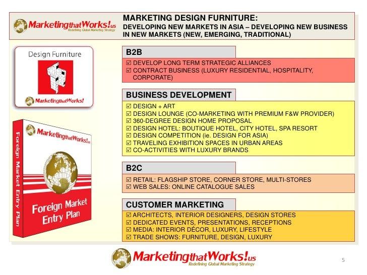 marketing design furniture developing new markets in asia