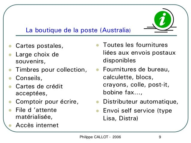 La boutique de la poste (Australia)Cartes postales,                 Toutes les fournituresLarge choix de                  ...