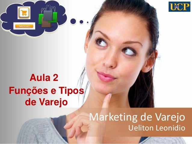 Marketing de Varejo Ueliton Leonidio 1 Aula 2 Funções e Tipos de Varejo