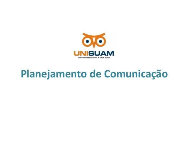 Planejamento de Comunicação