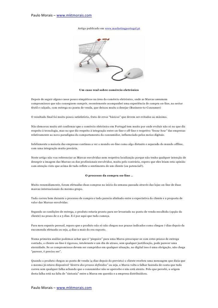Paulo Morais – www.mktmorais.com                   mktmorais.com                                    Artigo publicado em ww...