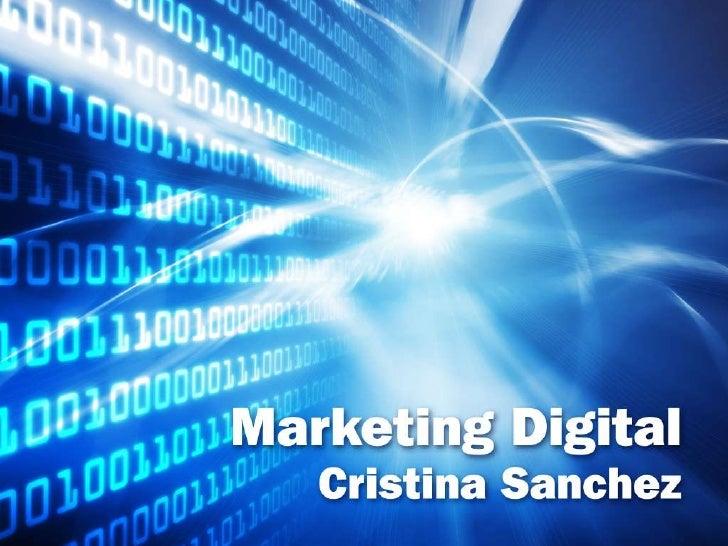 Marketing Digital - Cristina Sanchez