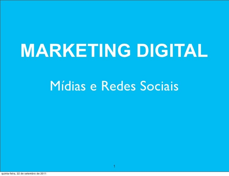 MARKETING DIGITAL                                       Mídias e Redes Sociais                                            ...