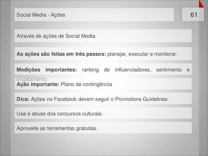 Social Media - Ações                                                  61Através de ações de Social Media.As ações são feit...
