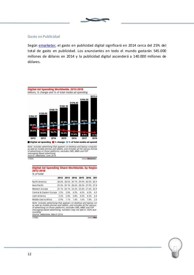 13 En España, según IAB, en 2013 la inversión en Publicidad Digital superó los 244 millones de euros. Por regiones, lidera...