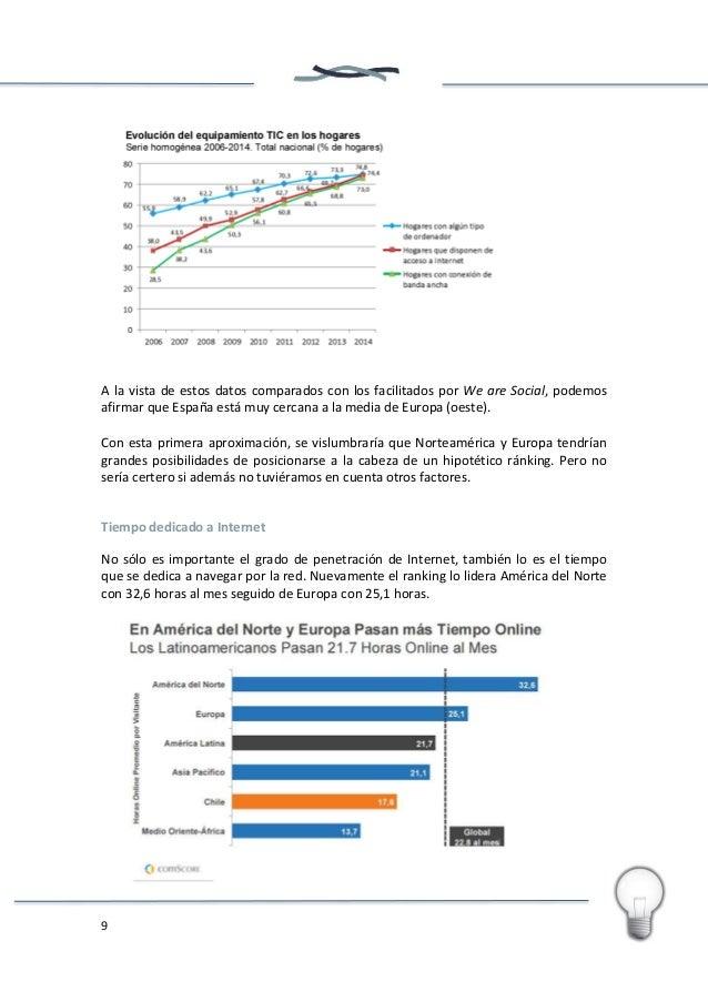 10 Según comScore, los españoles invirtieron de media 26,7 horas mensuales en consumo online durante el mes de enero, bien...