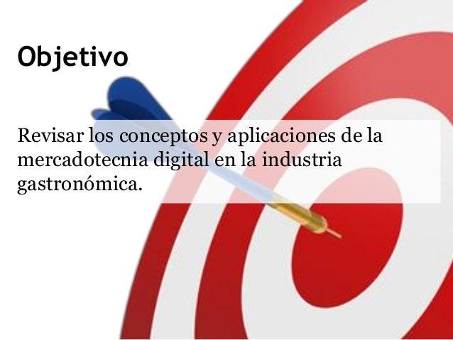 Marketing digital en la industria gastonómica Slide 2