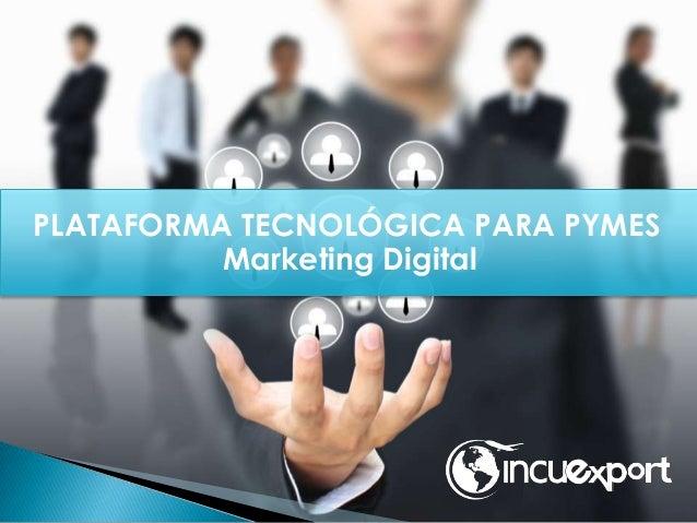 PLATAFORMA TECNOLÓGICA PARA PYMES Marketing Digital