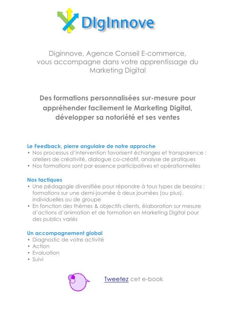Diginnove, Agence Conseil E-commerce,   vous accompagne dans votre apprentissage du                  Marketing Digital    ...