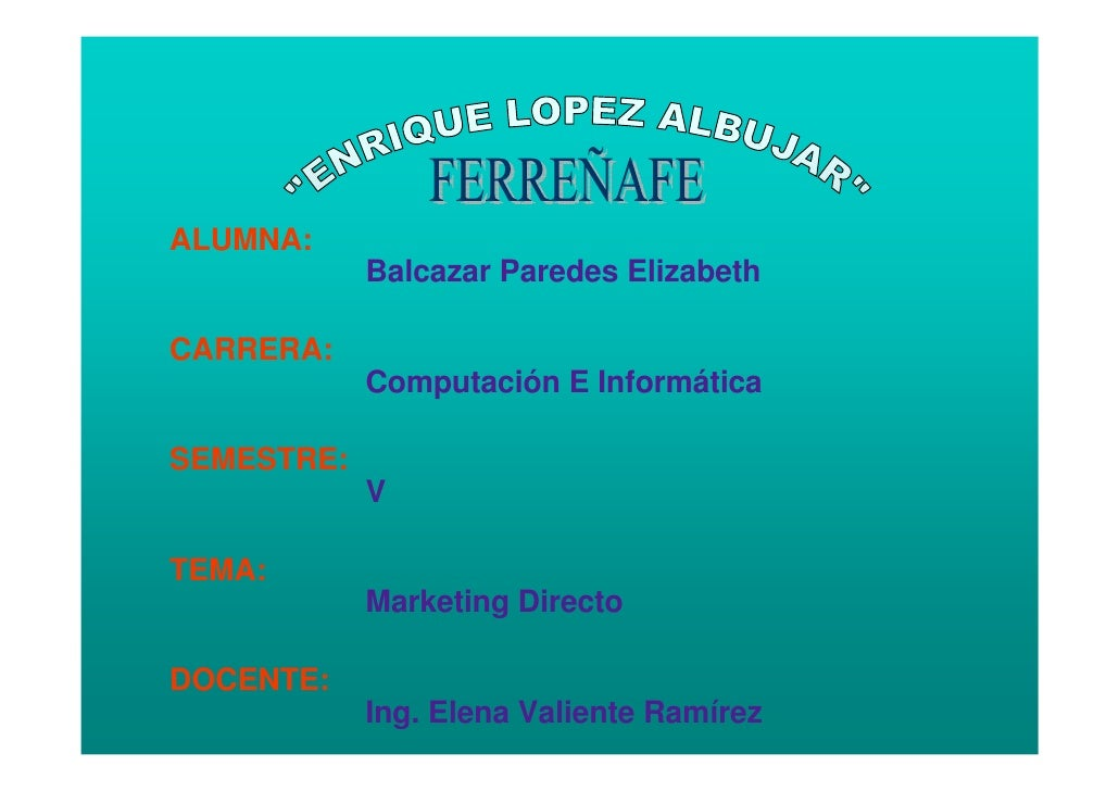 ALUMNA:             Balcazar Paredes Elizabeth  CARRERA:             Computación E Informática  SEMESTRE:             V  T...