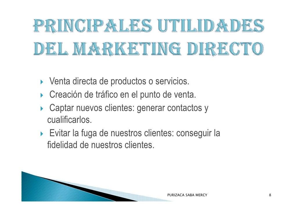 Venta directa de productos o servicios.  Creación de tráfico en el punto de venta.  Captar nuevos clientes: generar contac...
