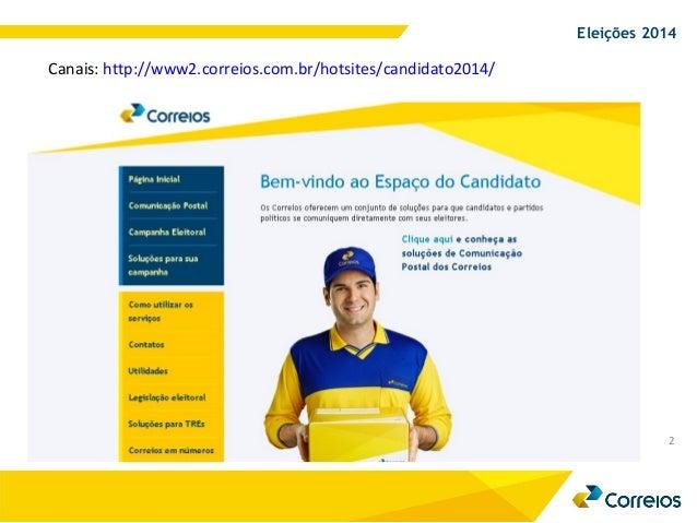Correios - Marketing direto eleições 2014 Slide 2