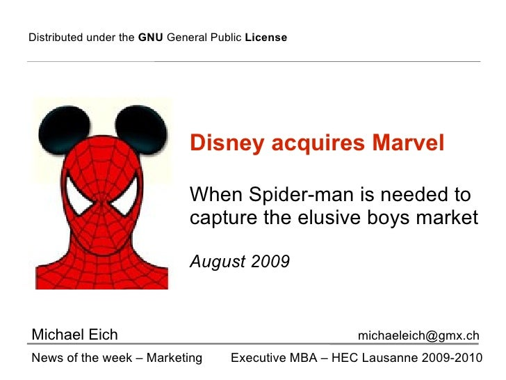 disney marvel merger analysis