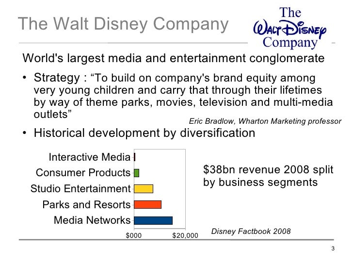 the walt disney company and diversification The walt disney co is basically an enigma where the company has shown the   the company has been quite successful with its diversification strategy and.