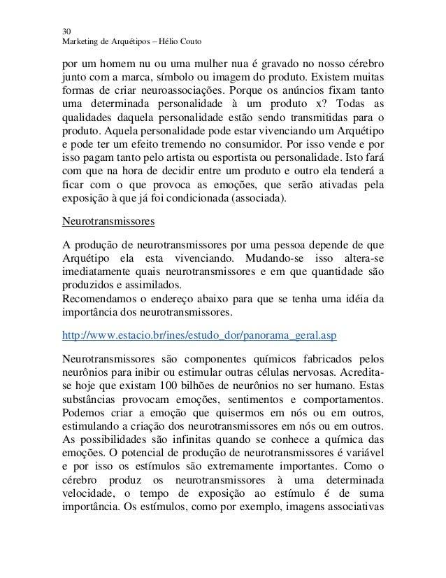 30 Marketing de Arquétipos – Hélio Couto por um homem nu ou uma mulher nua é gravado no nosso cérebro junto com a marca, s...