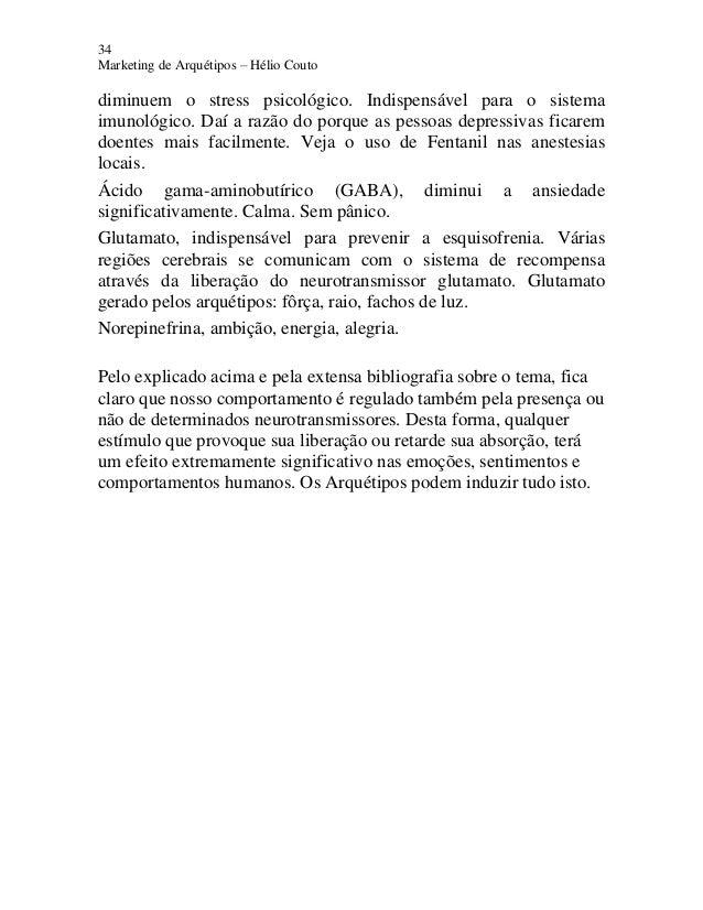 34 Marketing de Arquétipos – Hélio Couto diminuem o stress psicológico. Indispensável para o sistema imunológico. Daí a ra...