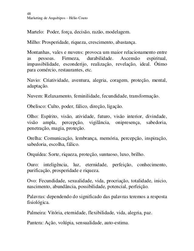 48 Marketing de Arquétipos – Hélio Couto Martelo: Poder, força, decisão, razão, modelagem. Milho: Prosperidade, riqueza, c...