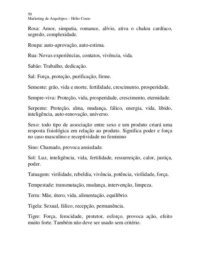 50 Marketing de Arquétipos – Hélio Couto Rosa: Amor, simpatia, romance, alívio, ativa o chakra cardíaco, segredo, complexi...