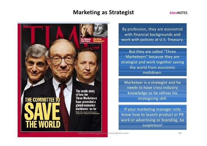 Marketing as Strategist                                    By profession, they are economist                              ...