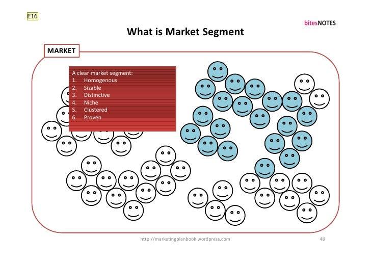 E16                                 What is Market Segment       MARKET             A clear market segment:            1. ...