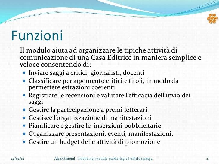 Marketing ed ufficio stampa Slide 2