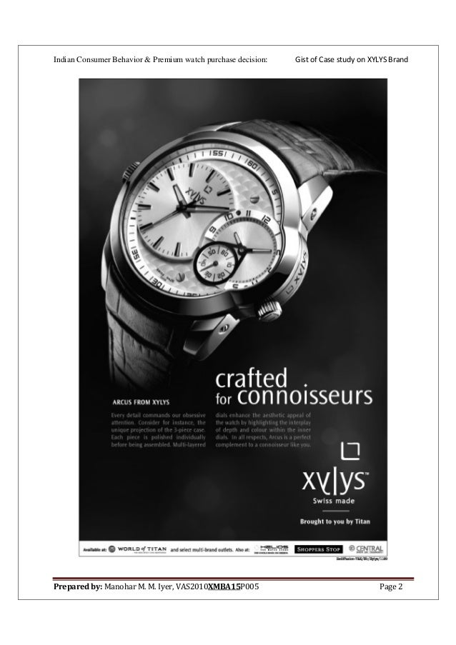 consumer preference of watches india Study is to understand the growth of the luxury market in india and abroad, to study the profile of indian luxury customers, to study the luxury industry with respect to luxury watches and suits and to study the purchase behaviour of luxury customers with respect to luxury watches.