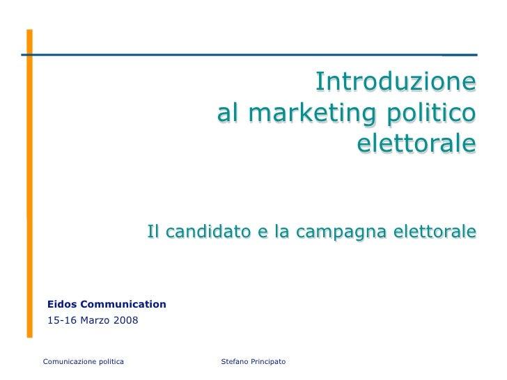 Introduzione                                 al marketing politico                                            elettorale  ...