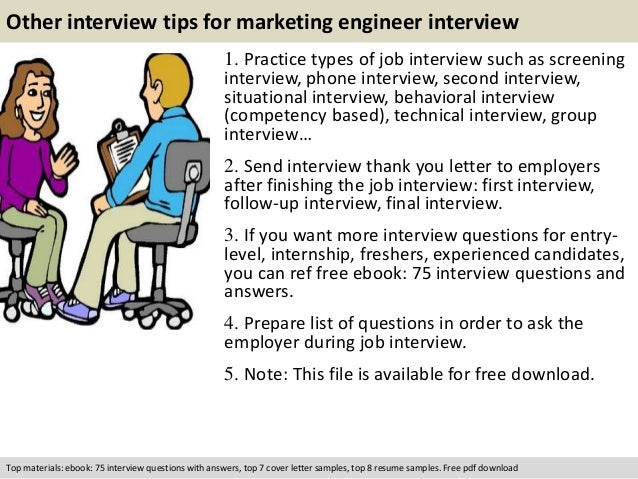 free pdf download 11 other interview tips for marketing engineer - Technical Marketing Engineer Resume