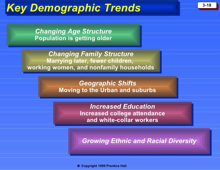 how changes in demographic environment affects marketing decisions of businesses Marketing environment  influence on environment factors and small businesses that need to adapt continuously to environment changes  demographic factors,.