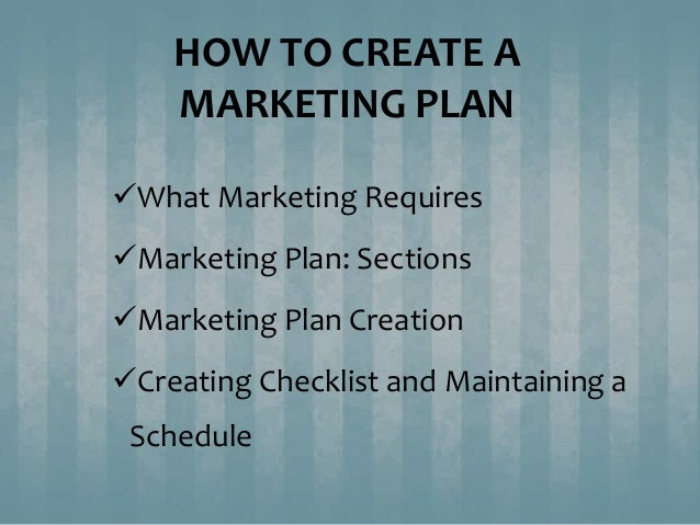 how to create a marketing plan In the past, we budgeted for market research this usually included our annual customer satisfaction survey and then we simply looked at our marketing plan an set aside a budget for the new product research.