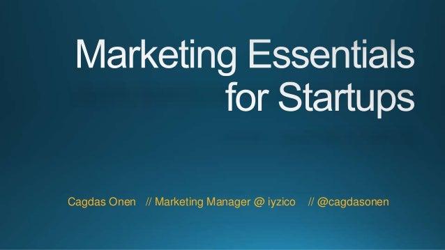 Cagdas Onen // Marketing Manager @ iyzico // @cagdasonen