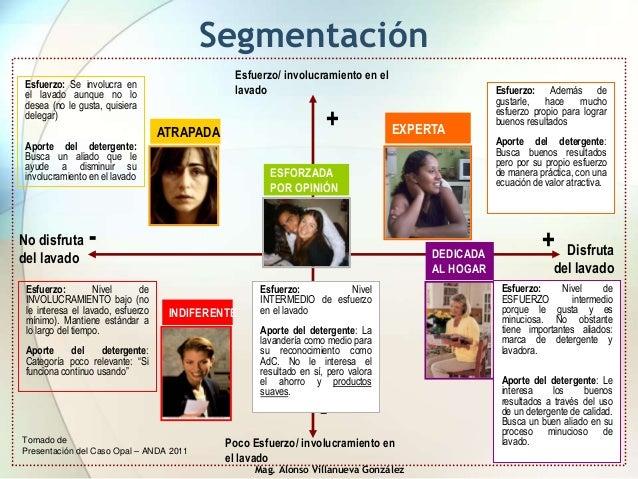 Mag. Alonso Villanueva González Segmentación Tomado de Presentación del Caso Opal – ANDA 2011 No disfruta del lavado Esfue...