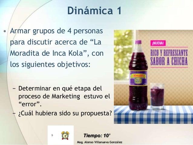"Mag. Alonso Villanueva González Dinámica 1 • Armar grupos de 4 personas para discutir acerca de ""La Moradita de Inca Kola""..."