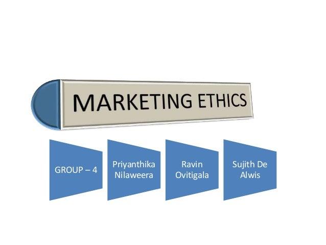 Marketing ethics & social responsibilities