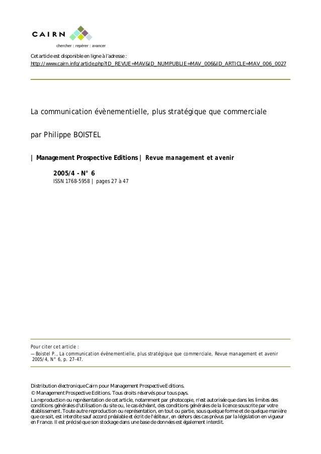 Cet article est disponible en ligne à l'adresse : http://www.cairn.info/article.php?ID_REVUE=MAV&ID_NUMPUBLIE=MAV_006&ID_A...