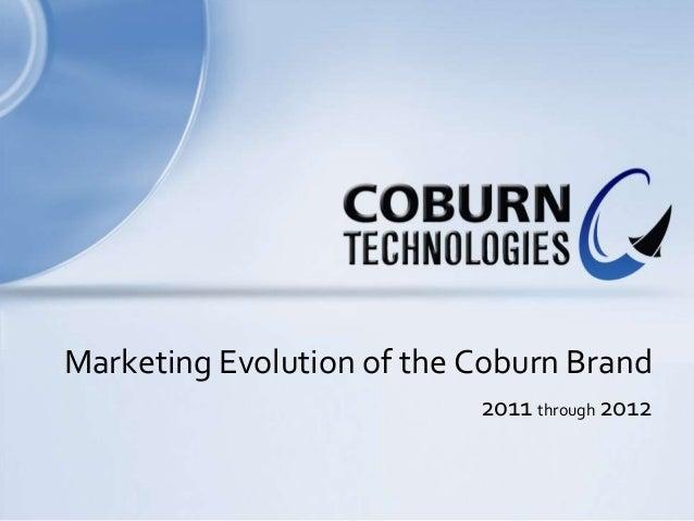 Marketing Evolution of the Coburn Brand                           2011 through 2012