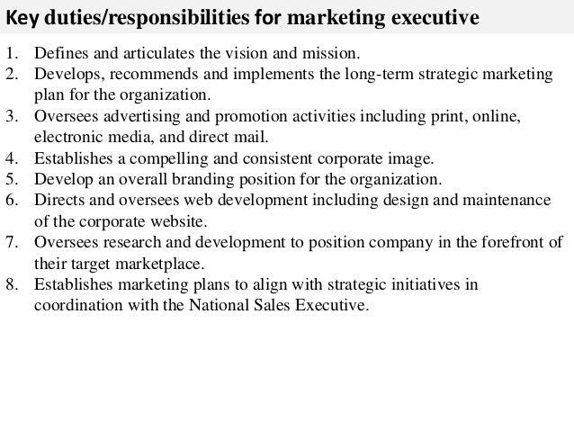 ... 2. Key Duties/responsibilities For Marketing ...
