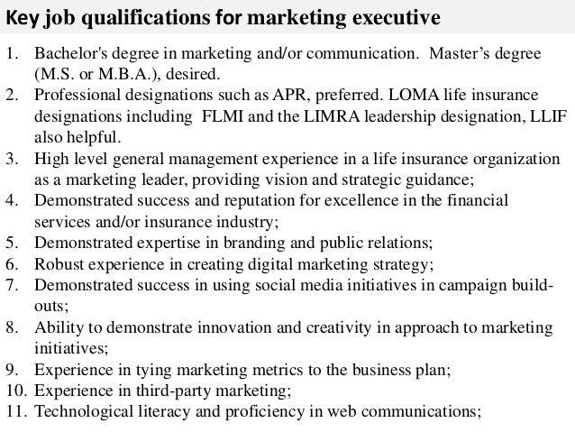 Marketing executive job description – Marketing Job Descriptions