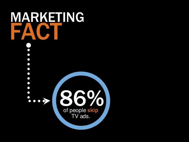 MARKETINGFACT     86%       of people skip           TV ads.