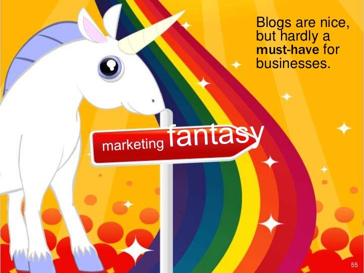Blogs are nice,but hardly amust-have forbusinesses.                  55